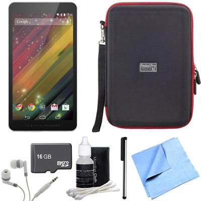7 G2-1311 J4Y28AA#ABA 7-Inch 8 GB Silver Tablet 16GB Micro SD Bundle