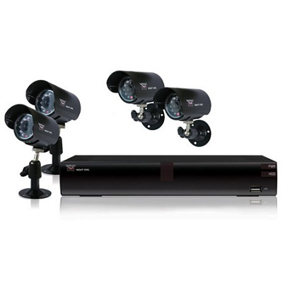 4 Channel H.264 DVR Kit with 4 Cameras and 500GB HardDrive - Factory Refurbished