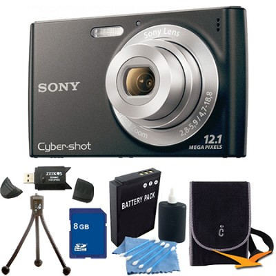 Cyber-shot DSC-W510 Black Digital Camera 8GB Bundle