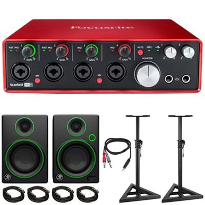 Scarlett 18i8 USB Audio Interface (2nd Gen) + Mackie Speaker Bundle