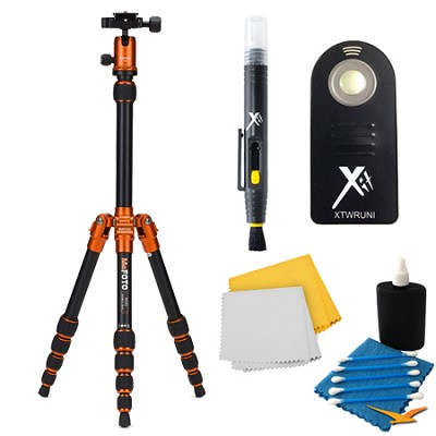 A0350Q0C Backpacker Travel Orange Tripod Accessory Kit