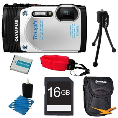 TG-850 16MP Waterproof Shockproof Freezeproof Digital Camera White Kit