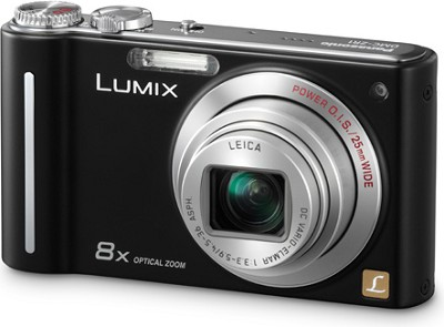 DMC-ZR1K LUMIX 12.1 MP 8x Zoom Digital Camera (Black)