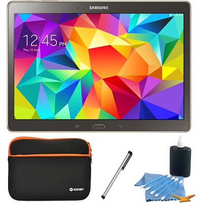 Galaxy Tab S 10.5` Tablet - (16GB, WiFi, Titanium Bronze) Accessory Bundle