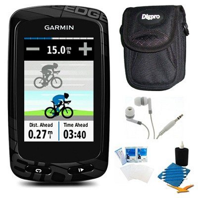 Edge 810 Cycling Monitor and Sensors GPS with Case Bundle