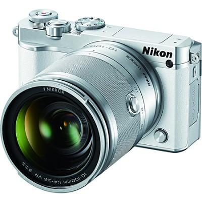 1 J5 Digital Camera w/ NIKKOR 10-100mm f/4.0-5.6 VR Lens - White