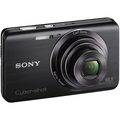 Cyber-shot DSC-W650 Black Compact Digital Camera 3 inch LCD, HD Video