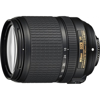 AF-S DX NIKKOR 18-140mm f/3.5-5.6G ED VR Lens - Factory Refurbished