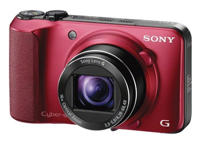 Cyber-shot DSC-HX10V (Red) 18.2 MP 16x Zoom 3D HD Video w/ Geotagging - OPEN BOX