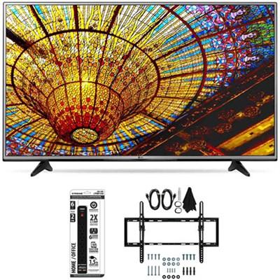 49UH6030 - 49-Inch 4K UHD Smart LED TV w/ webOS 3.0 Tilt Wall Mount Bundle