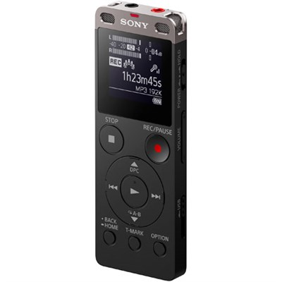 ICD-UX560BLK Stereo Digital Voice Recorder (Black) with Built-in USB
