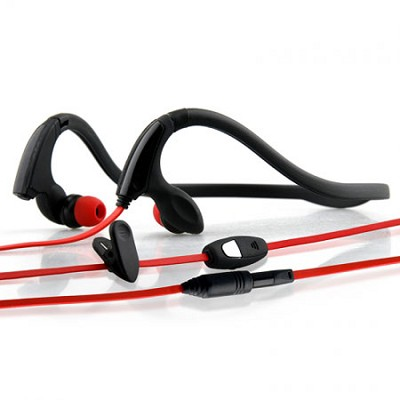 NS200 3.5mm Sports Neckband Stereo Headphones - Black