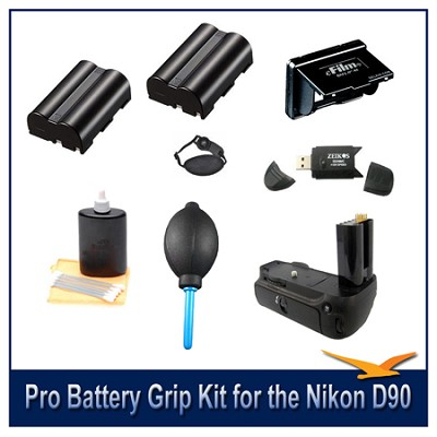 Fully Loaded Pro Battery Grip Kit for the Nikon D90