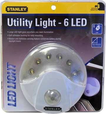 Wireless 6 LED Utility Light with Automatic Motion and Darkness Sensor