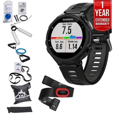 Forerunner 735XT GPS Running Watch Run-Bundle + Fitness Warranty Kit