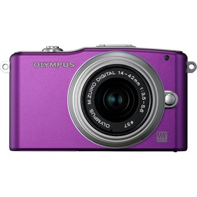E-PM1 Purple w/14-42mm Lens