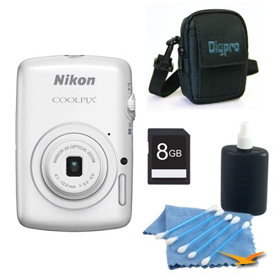 COOLPIX S01 10.1MP 2.5-inch Touch Screen White Digital Camera Kit