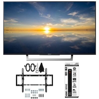 XBR-49X800D - 49` Class 4K HDR Ultra HD TV w/ Flat Tilt Wall Mount Bundle
