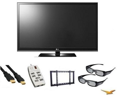 42PW350 42-Inch 720P 3D Ready Plasma HDTV + Two 3D Glasses & Bonus 3D HDMI Cable
