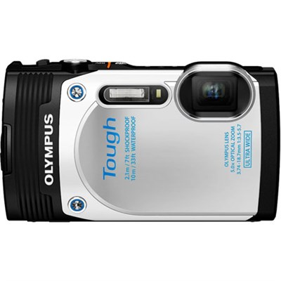 TG-850 16MP Waterproof Shockproof Freezeproof Digital Camera (White) Refurbished