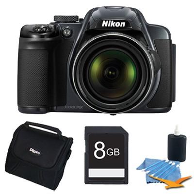 COOLPIX P520 18.1 MP 42x Zoom Digital Camera - Dark Grey Plus 8GB Memory Kit