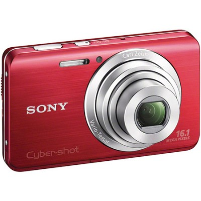 Cyber-shot DSC-W650 Red Compact Digital Camera 3 inch LCD, HD Video