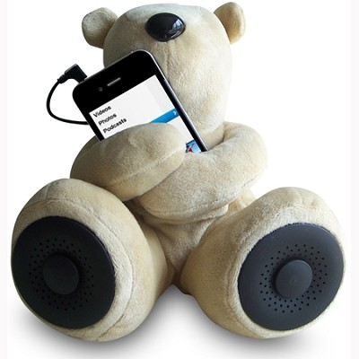 Teddy Speaker -The perfect addition to your iPod, iPhone, MP3 players (Brown)