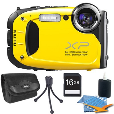FinePix XP60 16 MP Waterproof Shockproof Freezeproof Digital Camera Yellow Kit