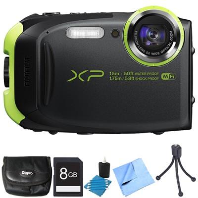 FinePix XP80 16MP Waterproof Digital Camera Graphite Black 8GB Bundle