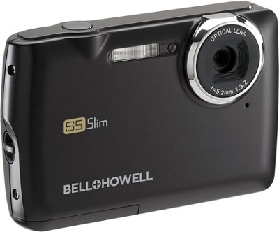 S5 Slim 12.2 MP Black Digital Camera w/ 5X Zoom, 2.7 Inch LCD