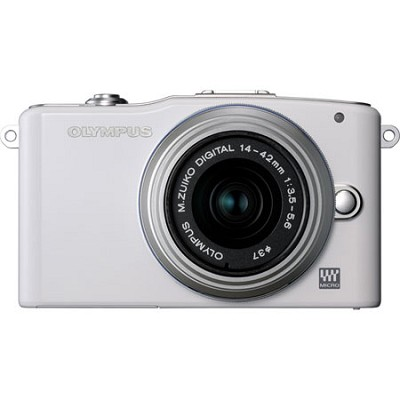 E-PM1 White w/14-42mm Lens