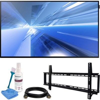 Dm-E Series 55` Slim Direct-Lit LED Commercial Display + Wall Mount Kit
