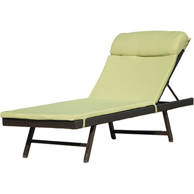 Orleans 2pc Chaise Lounge Chair Set: One Woven Chaise; One Cushion
