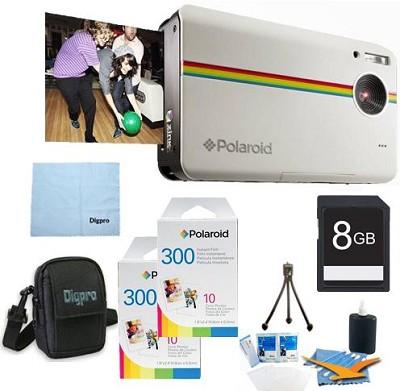Z2300 10MP 2x3` Instant Digital Camera (White) ULTIMATE Bundle