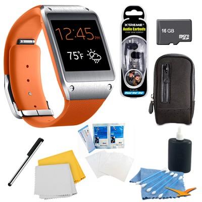 Wild Orange Galaxy Gear Smartwatch Memory Bundle