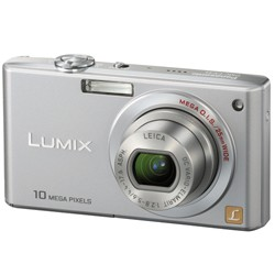 DMC-FX35S - Slim Compact 10 MP Camera (Silver) w/ 2.5- inch LCD - OPEN BOX