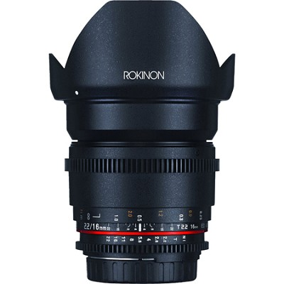 Cine DS 16mm T2.2 Cine Wide Angle Lens for Canon EF-S