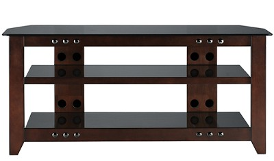 NFV249 - Natural Three Shelf A/V Stand for TVs up to 52` (Mocha Finish)