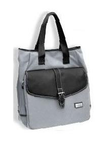 Unisex Tote Bag Gray with Black Trim