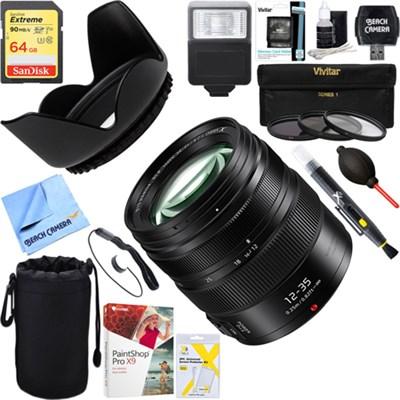 12-35mm F2.8 II ASPH Mirrorless Micro Lens + 64GB Ultimate Kit