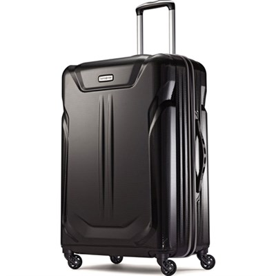 Liftwo Hardside 25` Spinner Luggage - Black - OPEN BOX