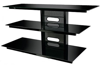 PVS-4218HG - Flat Panel TV Stand in High Gloss Black (for most TVs up to 52`)
