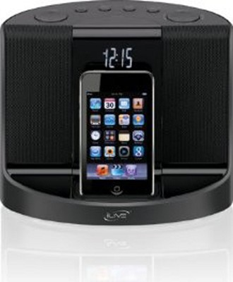 Intelli-set Clock Radio with Dock for iPod (Black)