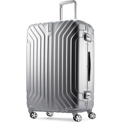 Tru-Frame Hard Shell Matte Silver 28` Spinner Suitcase