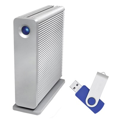 d2 Quadra v3 USB 3.0 7200RPM 4 TB External Hard Drive with Flash Transfer Kit