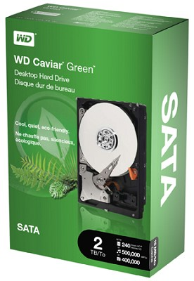 2TB WD Caviar Green Power-Saving Internal Hard Drive