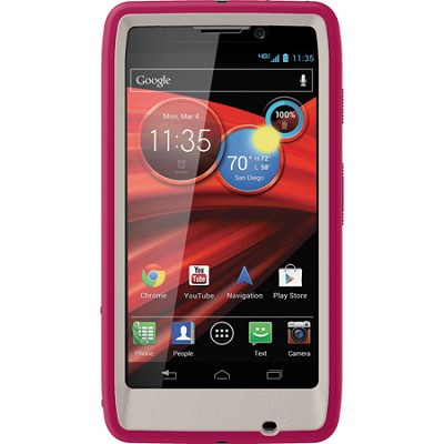 Defender Series Case for Motorola RAZR MAXX HD Retail Packaging - Blushed Pink