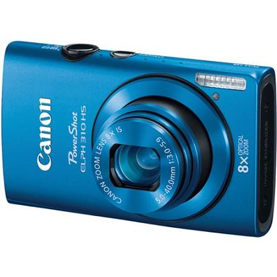 PowerShot ELPH 310 HS 12MP Blue Digital Camera w/ 8x Zoom, 1080p Video