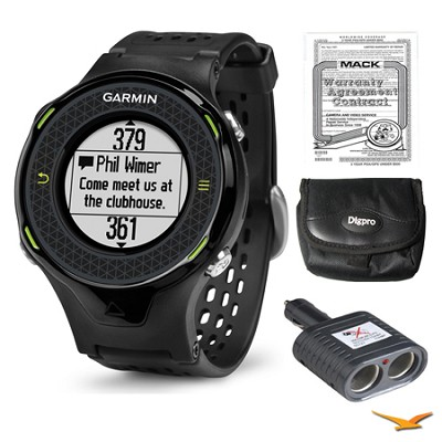 Approach S4 GPS Hi-res Touchscreen Black Golf Watch, Warranty, and Case Bundle