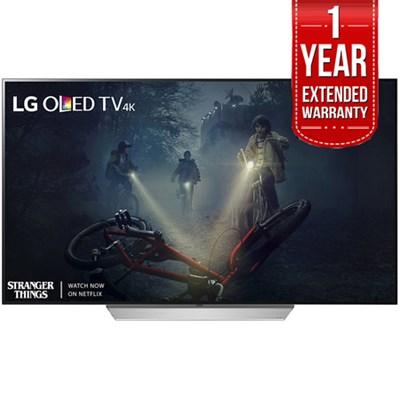 55` C7P OLED 4K HDR Smart TV (2017 Model) + Extended 1 Year Warranty Bundle